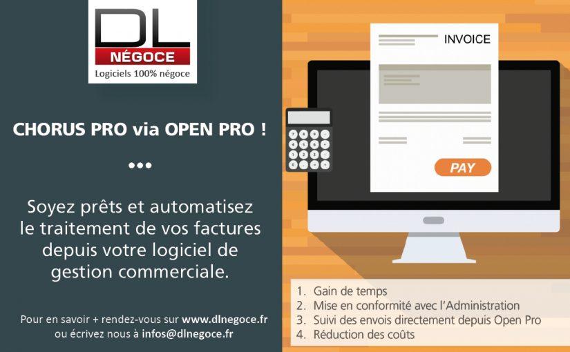Gérez la dématérialisation de vos factures clients directement à partir d'OPEN PRO!